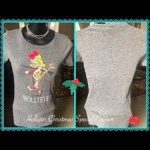 Hollister Christmas graphic tee short sleeve